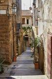 De oude stad van Toscanië Het concept van Italië Stock Afbeelding