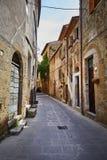 De oude stad van Toscanië Het concept van Italië Stock Afbeeldingen