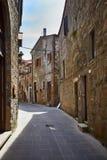De oude stad van Toscanië Het concept van Italië Royalty-vrije Stock Afbeeldingen