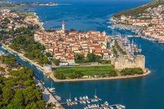 De oude stad van Trogir Royalty-vrije Stock Foto