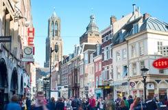 De Oude Stad van Utrecht Stock Fotografie