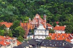De oude stad van Vilnius Stock Afbeeldingen