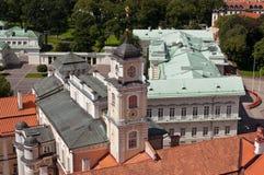 De oude stad van Vilnius van hierboven stock afbeeldingen