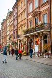 De oude stad van Warshau, Polen Royalty-vrije Stock Foto's