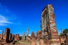 De oude stad van Wat Phra Si Sanphet en historische plaats Gevestigde I Stock Fotografie
