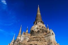 De oude stad van Wat Phra Si Sanphet en historische plaats Gevestigde I Royalty-vrije Stock Afbeelding