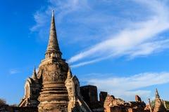 De oude stad van Wat Phra Si Sanphet en historische plaats Gevestigde I Stock Foto's