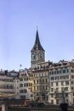 De oude stad van Zürich Royalty-vrije Stock Afbeeldingen