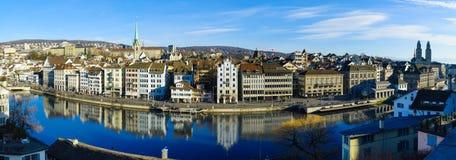 De Oude Stad &#x28 van Zürich; Altstadt) royalty-vrije stock foto