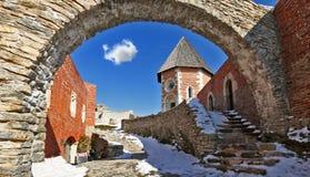 De oude stad van Zagreb Medvedgrad stock foto's