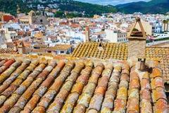 De oude stad Vila Vella van Tossa de Mar in Costa Brava Royalty-vrije Stock Foto's