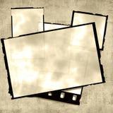 De oude Stapel van Foto's stock illustratie