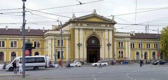 De oude stationbouw in Belgrado, Servië Stock Afbeeldingen