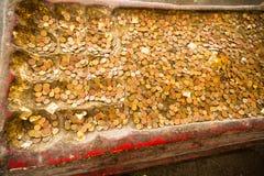 De oude steen sneed de voetafdruk van Boedha s Stock Fotografie