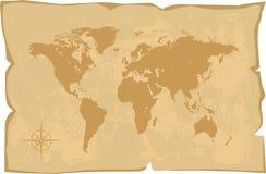 De oude stijl van de wereldkaart Royalty-vrije Stock Foto's