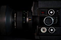 De oude stijl van het camerasysteem, vintege technologie royalty-vrije stock fotografie
