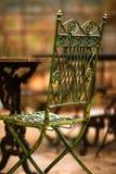 De oude stoel van de schoonheid - zeer zachte nadruk Stock Afbeeldingen