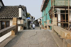 De oude straat Royalty-vrije Stock Afbeeldingen