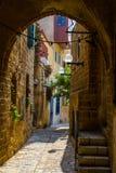 De oude straat van Jaffa, Tel Aviv stock afbeeldingen