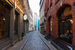 De oude straat van Riga royalty-vrije stock foto