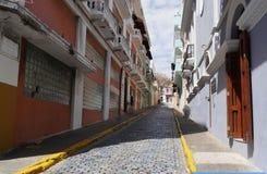 De oude straat van San Juan, Puerto Rico stock fotografie
