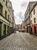 De oude straat van stadstorun Royalty-vrije Stock Afbeelding