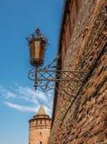 De oude straatlantaarn, Kolomna Royalty-vrije Stock Afbeeldingen