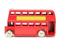 De oude stuk speelgoed Bus van autoLonden Royalty-vrije Stock Foto