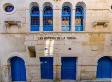 De oude synagoge, in Chablis stock foto