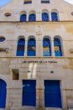 De oude synagoge, in Chablis stock foto's