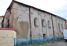 De oude synagoge in Chortkiv Royalty-vrije Stock Afbeeldingen