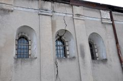 De oude synagoge in Chortkiv Stock Afbeelding