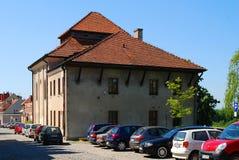 De oude synagoge in Sandomierz, Polen Stock Afbeelding