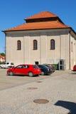 De oude synagoge in Sandomierz, Polen Royalty-vrije Stock Afbeeldingen