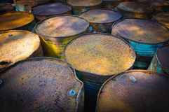 De oude tank van de brandstof stock afbeelding
