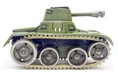 De oude Tank van het Stuk speelgoed (Zijaanzicht) Stock Afbeelding