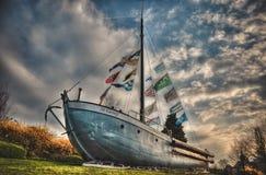 De oude techniek van schipfoto genomen HDR royalty-vrije stock foto