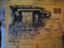 De oude tekening van de holmuur Stock Foto