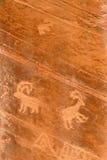 De oude Tekening van de Rots Royalty-vrije Stock Afbeeldingen