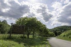 De oude teller van de Wildernisweg stock fotografie