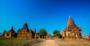 De oude tempel in bagan in Myanmar Stock Fotografie
