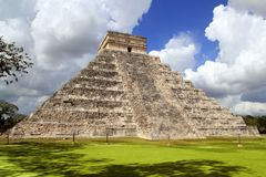 De oude tempel Mexico van de piramide van Chichen Itza Mayan Stock Foto