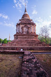 De oude tempel in noordelijk van Thailand Royalty-vrije Stock Foto's