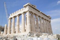 De Oude Tempel van Athena in Athene Stock Fotografie