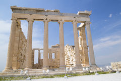 De Oude Tempel van Athena in Athene Stock Afbeelding