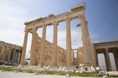 De Oude Tempel van Athena in Athene Royalty-vrije Stock Afbeeldingen