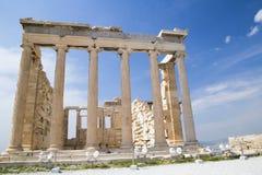 De Oude Tempel van Athena in Athene Royalty-vrije Stock Fotografie
