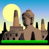 De Oude Tempel van Indonesië Borobudur Royalty-vrije Stock Foto's