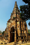 De oude tempel Wat Chai-Watthanaram (het Historische Park van Ayutthaya), Thailand stock fotografie