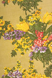 De oude textuur van de bloemstof Royalty-vrije Stock Foto's